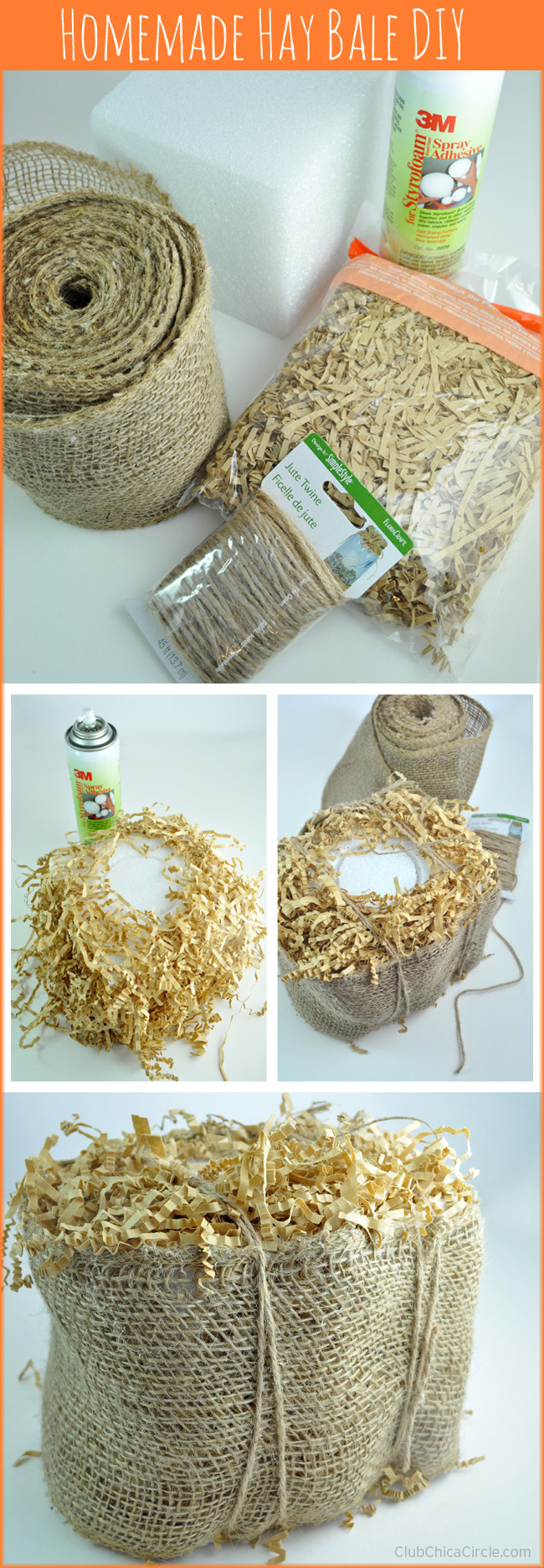 Homemade Hay Bale Craft Tutorial