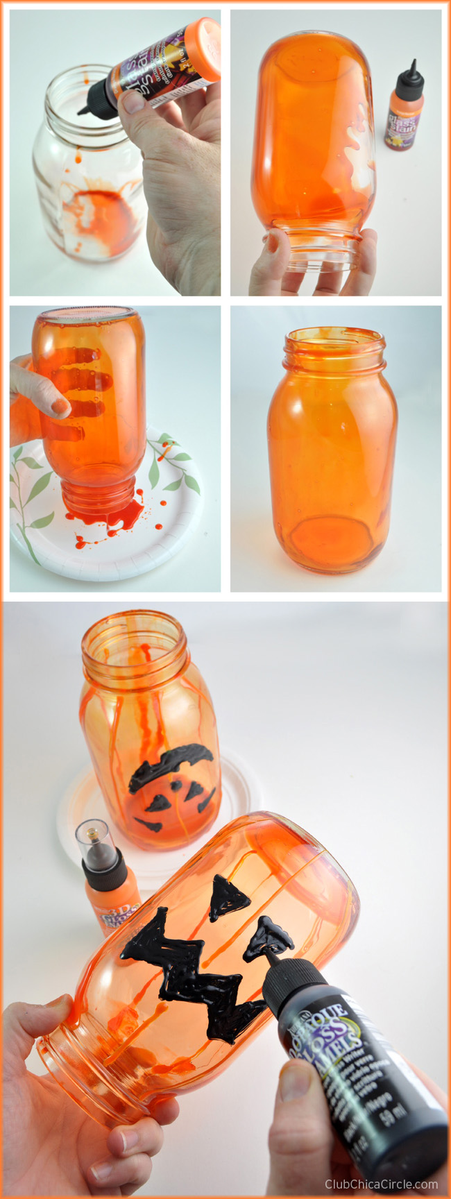 How to Tint a Glass Mason Jar for Halloween