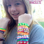 Tween puffy paint friendship bracelet craft idea