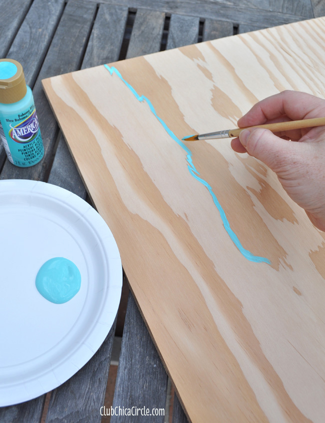 Wood Grain Wall Art Painted step 1
