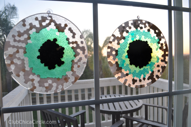 melted BBQ bead suncatchers easy craft idea