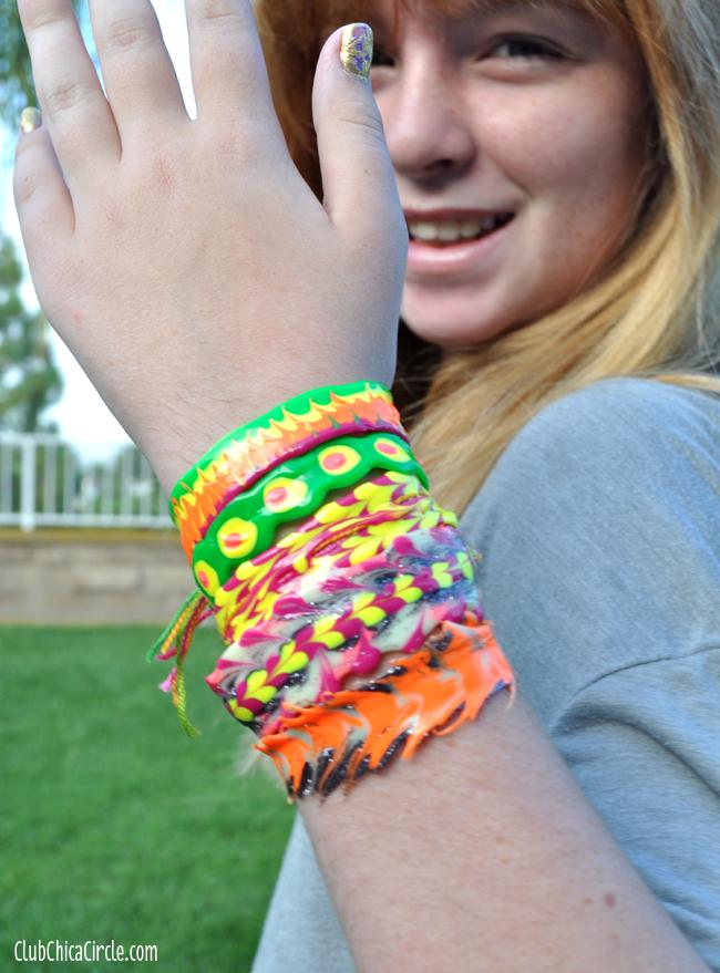 puffy paint bracelets tutorial