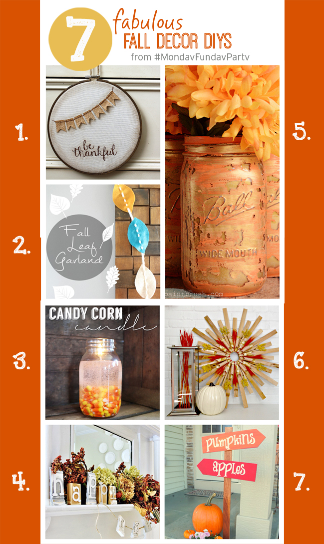 7 Fabulous Fall Decor DIYs #MondayFundayParty