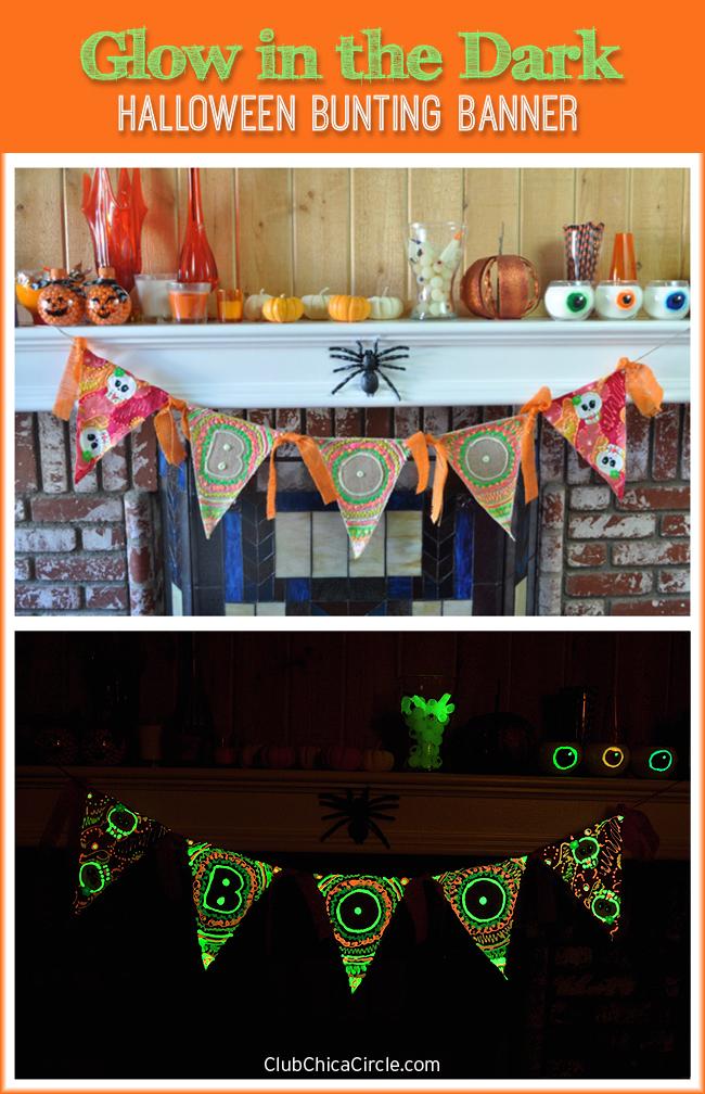Glow in the Dark Halloween Bunting Banner Craft DIY
