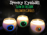 Glow in the Dark Spooky Eyeball Candles DIY