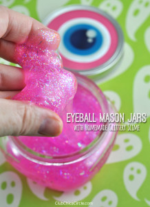 Homemade Glitter Slime for Halloween party for kids