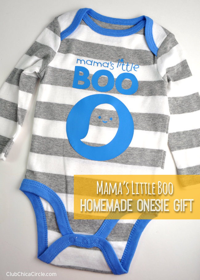 Homemade Onesie Baby Gift Idea with Silhouette Iron On Transfer