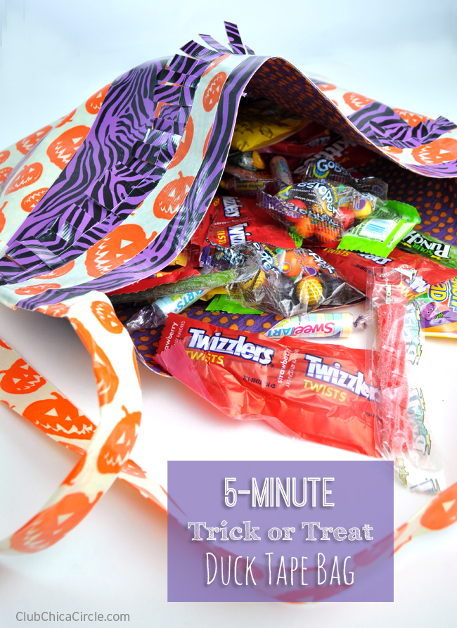 Homemade Trick or Treat Duck Tape bag craft