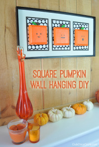 Painted Pumpkins Wall Hanging Easy Craft Idea