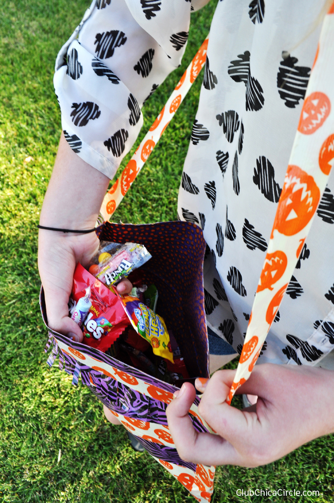 Quick and simple homemade fashionable trick or treat bag with duck tape fiskars scissors