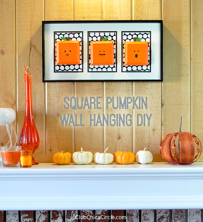 Square Pumpkin Wall Hanging DIY