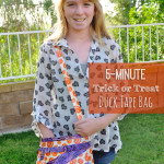 Super Easy 5 Minute custom Trick or Treat bag craft idea for kids