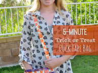 Super Easy 5 Minute custom Trick or Treat bag craft idea for kids