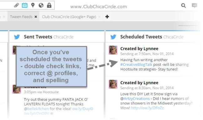 Hootsuite Scheduling - #CreativeBlogTalk
