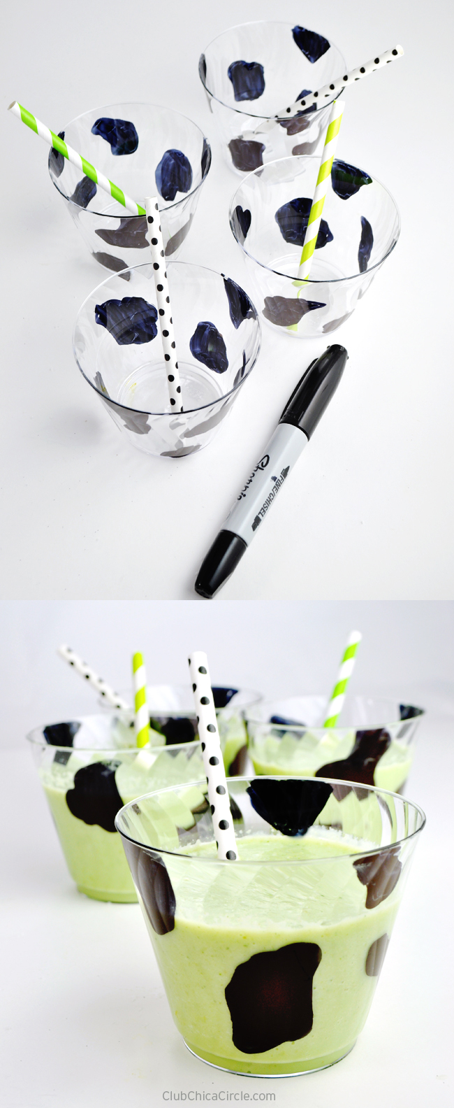 Cow Decorated Smoothie Party Cups