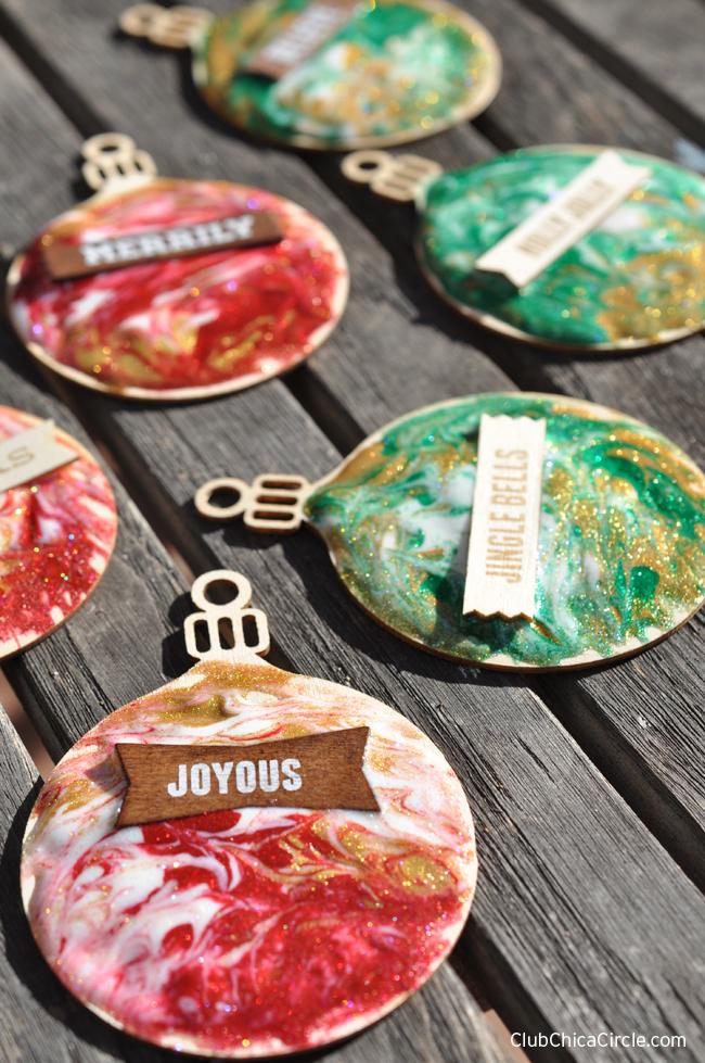 Easy Homemade Holiday Ornaments Kid's Craft Idea