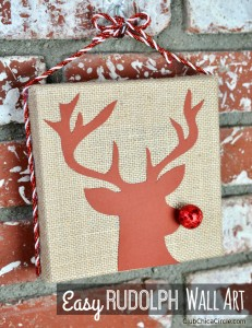 Easy Rudolph Wall Art Craft Idea