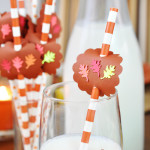 Homemade Fall Leaf Straw Decorations