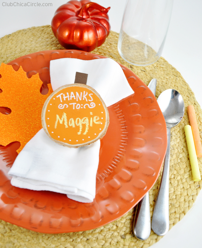 Set your Thanksgiving table in style with wood pumpkin napkin rings
