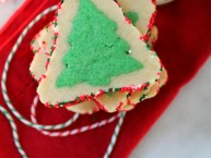 2 layer Holiday tree sugar cookies