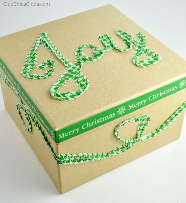 Holiday Writing and Gift Wrapping with Washi Tape
