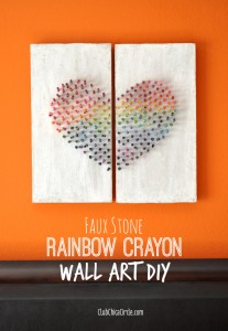 Homemade Crayon Wall Art DIY