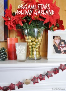 Homemade holiday garland for mantel decor