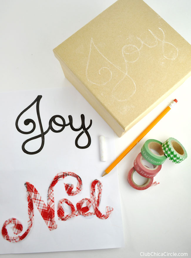 How to tranfer type onto surface with pencil and chalk