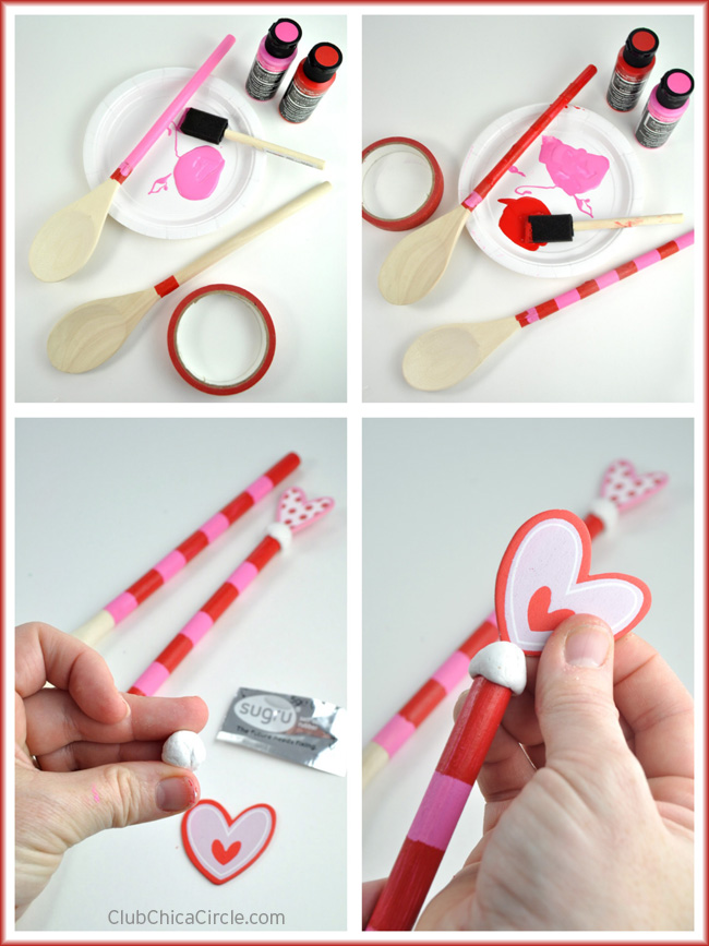 How to make a valentines painted wood spoon gift