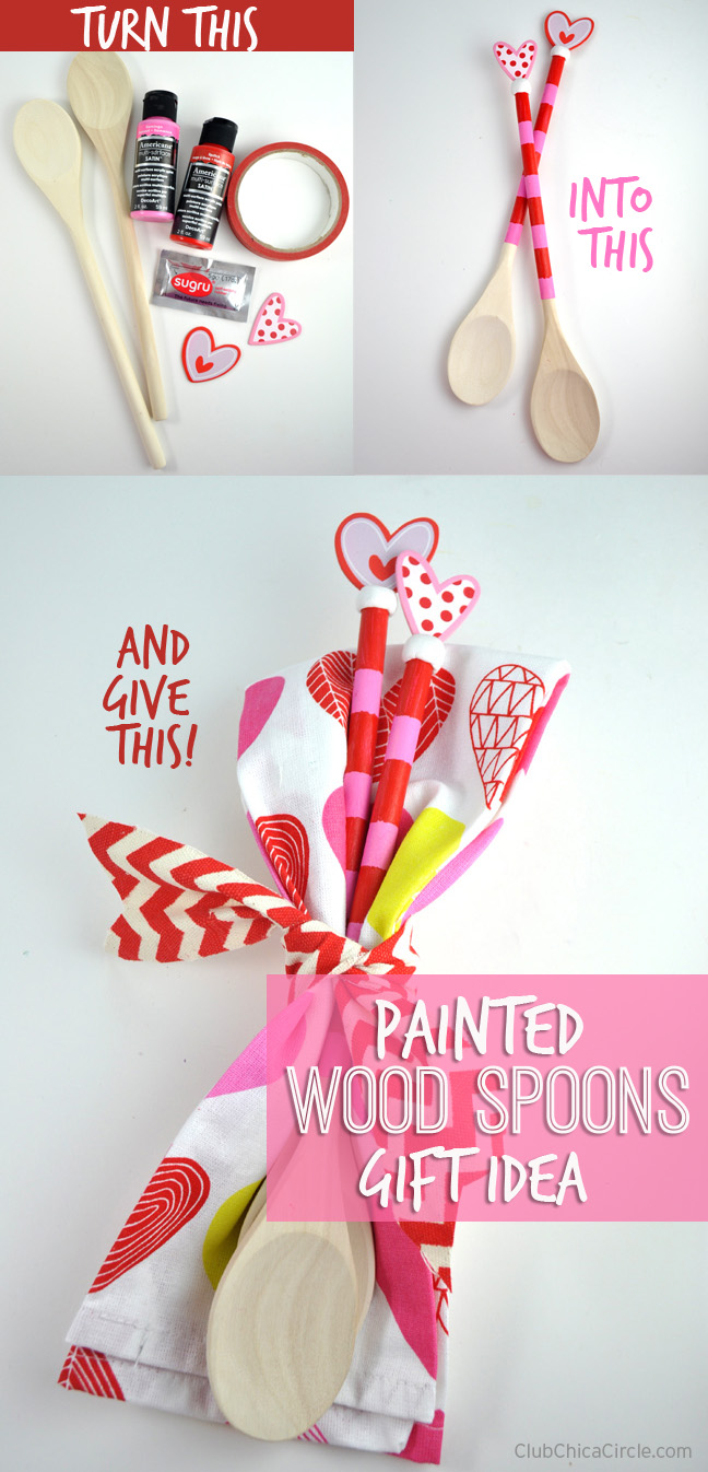 Painted Wood Spoons Homemade Gift Idea for Mom