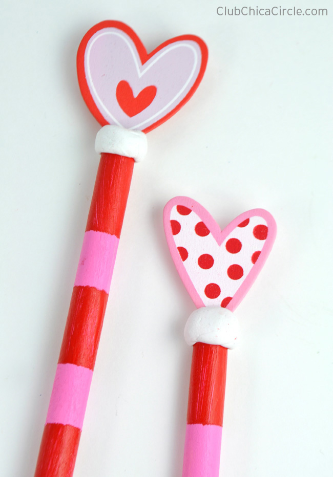 Painted Wooden Valentine Spoons craft idea