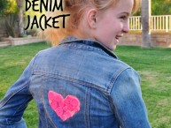 Upcycled Valentine Denim Jacket DIY