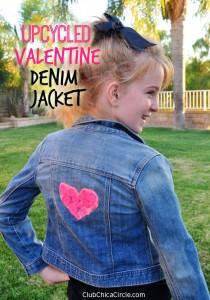 Upcycled Valentine Denim Jacket DIY
