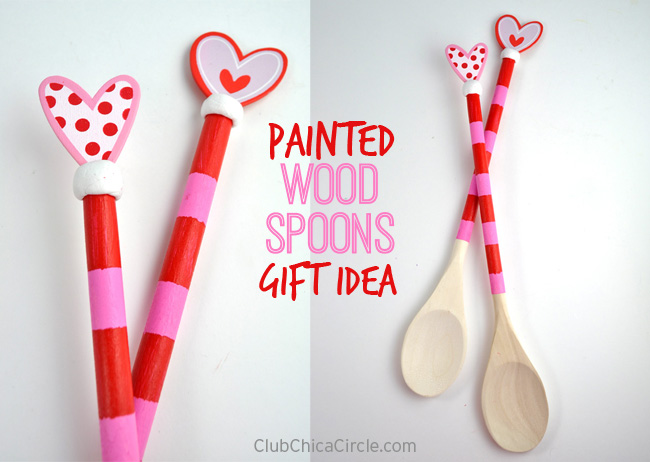 Valentine Painted Wood Spoon Gift idea for Mother's Day or Valentine's Day