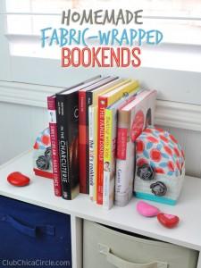 easy homemade bookends DIY #makeitfuncrafts