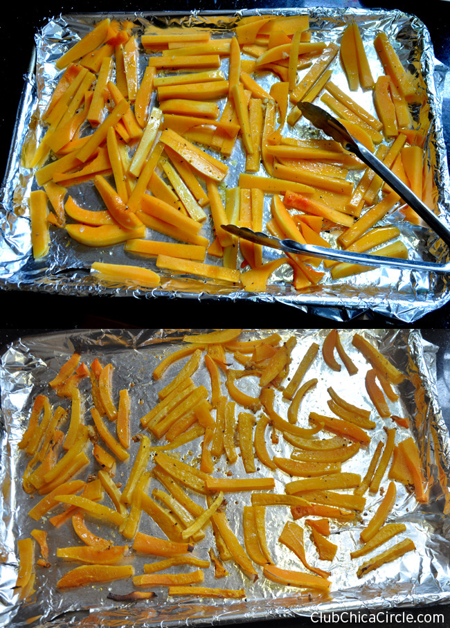 yummy garlic roasted butternut squash fries
