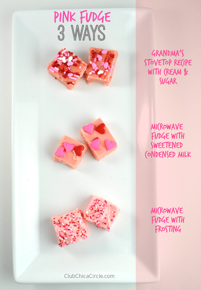 3 ways to make pink fudge