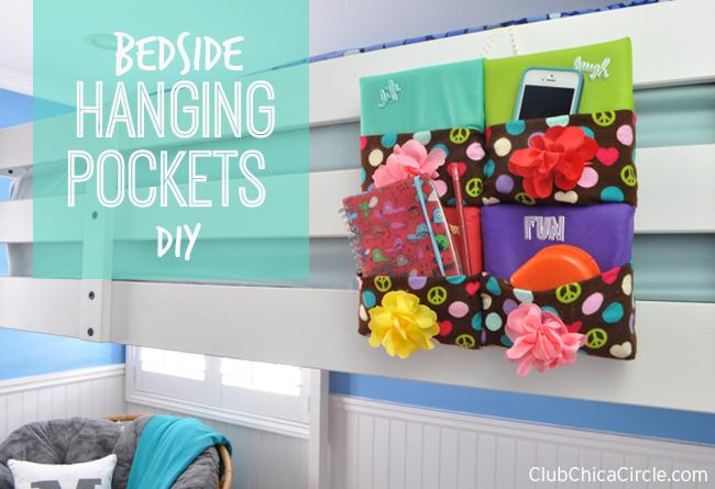 Bedside Hanging Pockets Organizer DIY