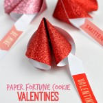 Paper Fortune Cookie Valentines with free printable