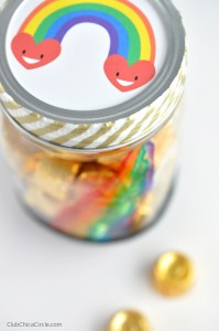 Pot of Gold Mason Jar Candy Homemade gift