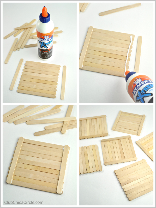 how to make handmade photo frames with sticks - diy picture frame ...