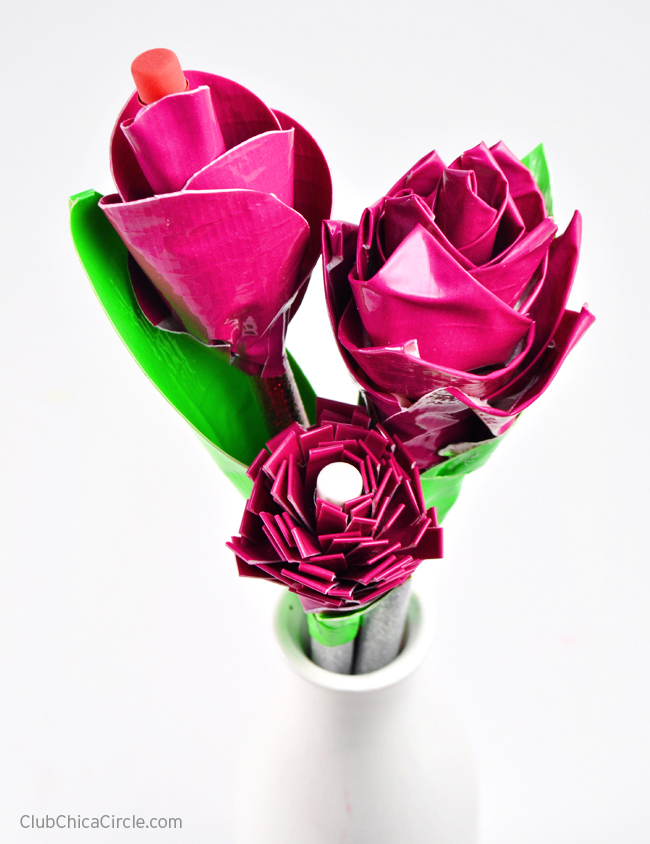 Duct Tape Scented Flower Pencils craft idea