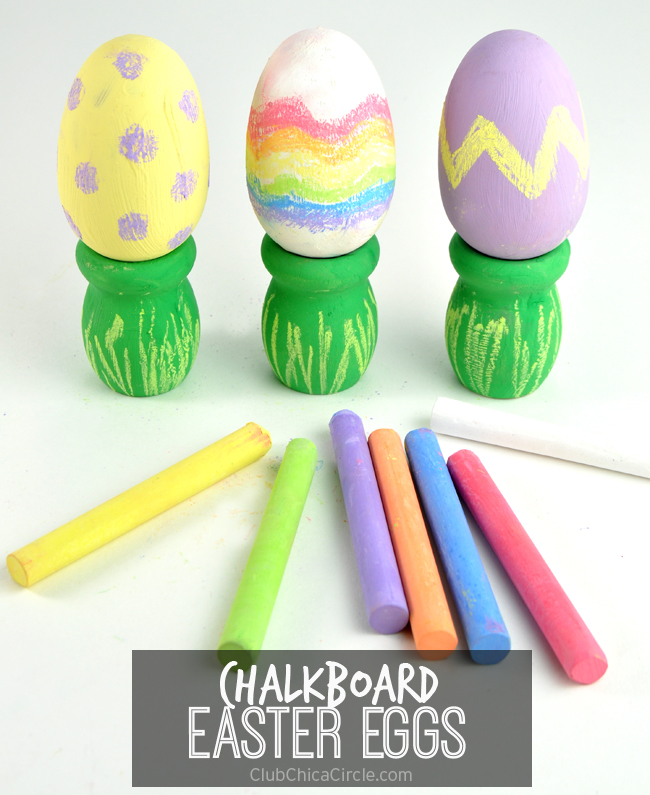 Easy Chalkboard Easter Eggs Craft Idea for Kids