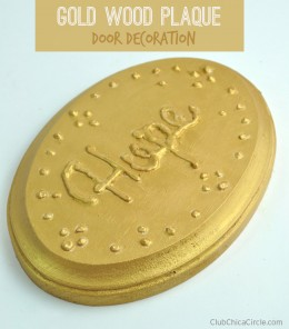 Homemade Gold Decorated Door Sign