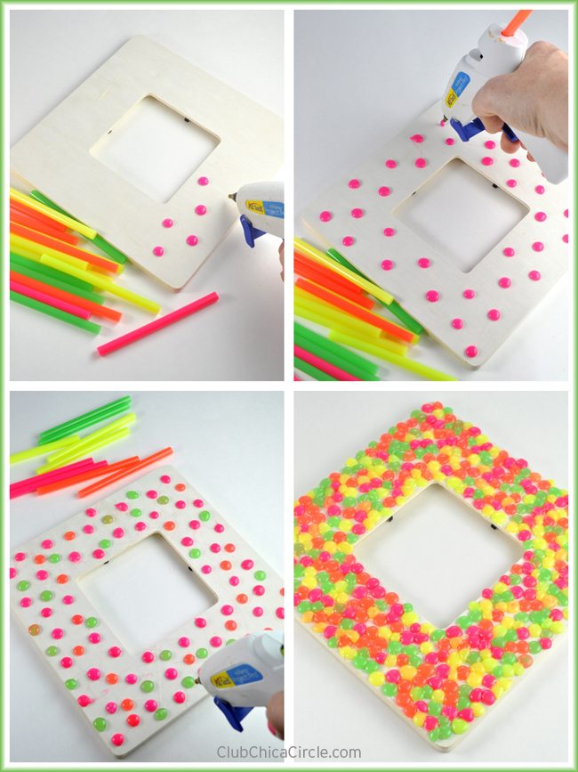 How to make a glue gun dot frame