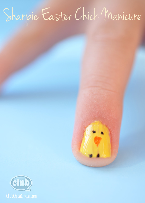 Sharpie-Easter-Chick-Tween-Manicure