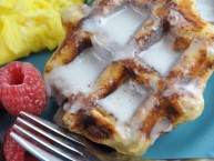 how to make super easy cinnamon roll waffles for kids