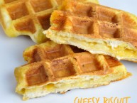 Cheesy Waffle Biscuit Waffle Iron Hack Idea