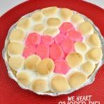 Heart designed s'mores pie for bridal shower