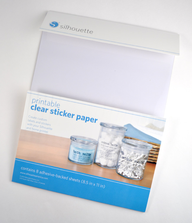Silhouette Clear Sticker Paper Craft Idea
